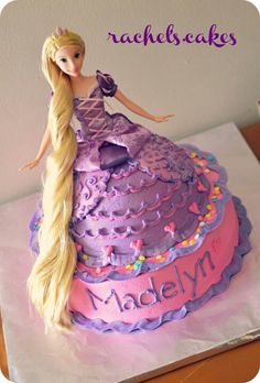 Barbie Rapunzel cake for Clare!