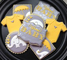 Elephant Baby Shower Sugar Cookie Collection by NotBettyCookies