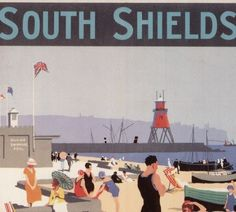 Collections | South Shields Museum & Art Gallery Retro Posters, Vintage Travel Posters, Vintage Postcards, Museum Art Gallery, Local History, Places Of Interest, Newcastle, Memoirs, Buses