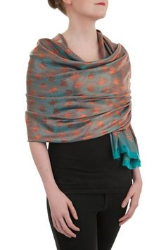 Opulent Luxury Scarf Shawl is an authentic silk shawl, wrap or scarf is the best versatile accessory giving you an elegant exquisite look!