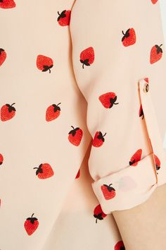 Strawberries are delicious and therefore, I would wear a shirt with strawberries on it. Logic.