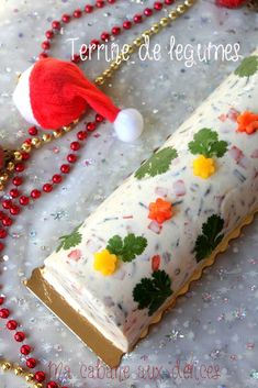 Terrine of cold vegetables without cooking - salmon