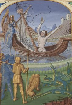 Bibliothèque nationale de France, Département des manuscrits, Français 916, detail of f. 74v. Le Livre de la misere de l'omme, by Lothier. 1474