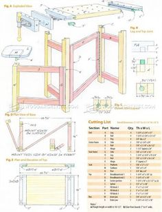 #2600 Folding Wood Carving Bench Plans - Wood Carving