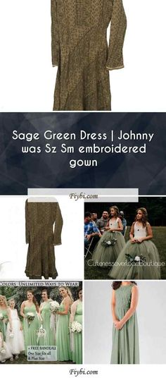 """""""Sage Green Dress, that is the subject of this mounth... Good morning our pretty follower. Our team have compiled these 4 Sage Green Dress pictures from 145+ awesome images for you. While doing this, Our Editors paid attention to the fact that there are decorations that can be popular in 2020 and many more. Please click on the 'Read More' button to see the rest of the content associated to... Sage Green Dress, Dress Picture, Johnny Was, One Size Fits All, Sequin Skirt, Rest, Decorations, Gowns, Content"""