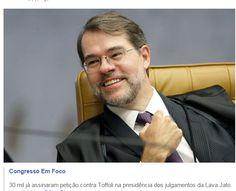 30 mil já assinaram petição contra Toffoli na presidência dos julgamentos da Lava Jato