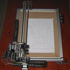 This machine is designed to make the laser engrave in wood and opaque plastic, having an Arduino and the GRBL as machine automation basis. The machine axis are just. Arduino Cnc, Cnc Router, Laser Cutter Engraver, Robotic Automation, Laser Cutter Projects, Stepper Motor, Cnc Machine, 3d Design, Laser Engraving