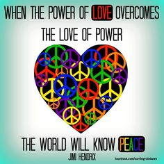 ...power of love peace...
