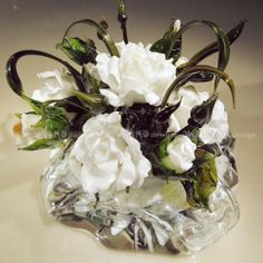 small bouquet of glass to decorate a wedding table. ArtStudio MalinoDesign. Lampwork. Art handmade. fragment