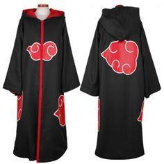 Halloween Coustume Hot Selling Naruto Cosplay Costume Naruto Akatsuki Uchiha Itachi Cosplay Cloak Hooded Plus Size (S-2XL) WA305  Price: 18.85 USD