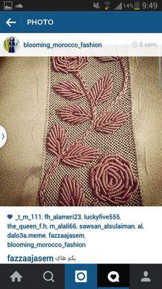 Zardozi Embroidery, Tambour Embroidery, Hand Work Embroidery, Embroidery Flowers Pattern, Embroidery Patches, Hand Embroidery Designs, Beaded Embroidery, Motif Design, Pattern Design
