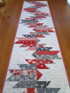 Table Runner Christmas in Gray and Red – Patchwork Mountain Table Runner Nordic x This Christmas table runner has fun Scandinav. Handmade Quilts for Your Home Gallery of Sold Items Quilted Table Runners Christmas, Patchwork Table Runner, Christmas Patchwork, Christmas Runner, Table Runner And Placemats, Purple Christmas, Quilt Table Runners, Coastal Christmas, Christmas Trees