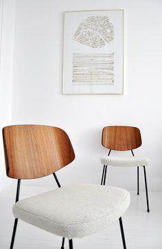 Chaise tubulaire Thonet - Contreplaqué moulé - Mobilier vintage - Bel Ordinaire