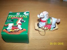 7 Eleven Citgo 1997 Traditions Ornament ROCKIN' CHRISTMAS Rocking Horse In Box