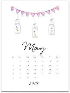 May Calendar Page 2017 - Mason Jar Crafts Love