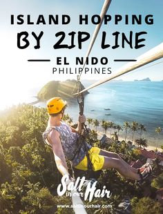 Island hopping by zip line in El Nido, Palawan