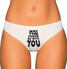 Star wars underwear  May The Force Be With You :)   Unique gift idea for star wars lover - funny underwear - geek underwear - The force Custom Underwear Panties Thongs Undies by UrbanArtAddict