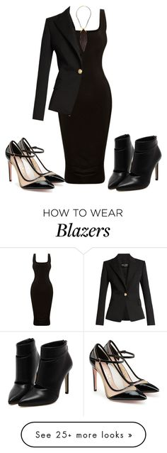 """outfit 46"" by traceyenorton on Polyvore featuring Balmain and Salvatore Ferragamo"