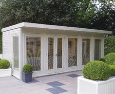 malvern collection of garden offices garden rooms garden studios sheds summerhouses gazebos pavilions greenhouses and playhouses Outdoor Sheds, Outdoor Rooms, Outdoor Living, Summer House Garden, Home And Garden, Contemporary Garden Rooms, Pavillion, Pool House Designs, Studio Shed