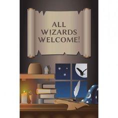 Harry Potter Party Supplies, Wizard Academy Door Signs, Decorations