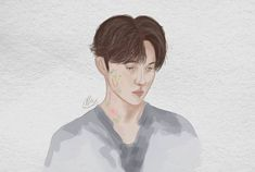 my instagram @olla.art Suho Exo, Kpop Fanart, Artworks, Fan Art, Anime, Instagram, Fanart, Anime Shows
