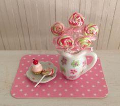 Miniature Swirl Lollipops In Pitcher by LittleThingsByAnna,