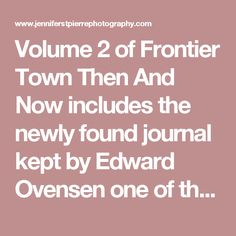 Volume 2 of Frontier Town Then And Now includes the newly found journal kept by Edward Ovensen one of the first partners that started the Frontier Town Theme Park. He kept meticulous records for several years detailing staff information along with general day to day business records. The journal was found during renovations of the old homestead's basement where it was wedged in the floor braces hidden by particle board. This volume contains 1416 images and has ten full color pages including…