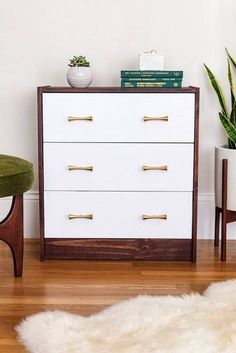 IKEA is the single biggest reason my first apartment had any furniture to speak of. Here are our favorite ikea hacks for your home. Painted Bedroom Furniture, Ikea Furniture, White Furniture, Furniture Makeover, Diy Bedroom Decor, Home Decor, Dresser Makeovers, Luxury Furniture, Furniture Ideas