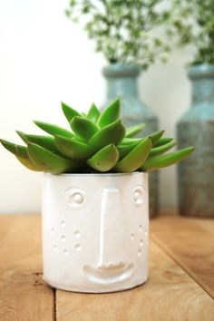 Clay Face Planter | Maker Crate