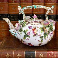 Coalport - Coalbrookdale Porcelain Tea Kettle, 1820 to 1830 England