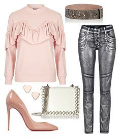 """""""The Pink Drink"""" by gracecar3 on Polyvore featuring Topshop, Christian Louboutin, Poppy Finch, Kaviar Gauche and Nina Ricci"""