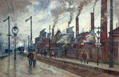 Gare et usines à Saint-Denis. Maurice FALLIES - © Collection musée de l'Ile-de-France, château de Sceaux - cliché P. Lemaitre