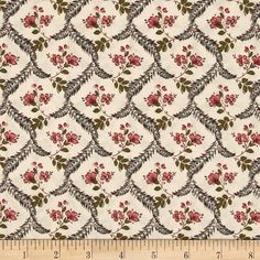 Penny Rose Isabella Fern Coral from @fabricdotcom  Designed by Erin Studios for Penny Rose Fabrics, this cotton print fabric is perfect for quilting, apparel and home decor accents. Colors include shades of teal, tan, cream and rose.