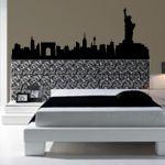 Vinilos decorativos con el skyline de New York, para decoración de interiores y paredes con estilo y originalidad.