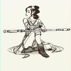 Came across this amazing piece of Rey fanart. #starwars #scifi #geek