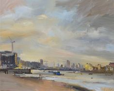 Evening Thames at Greenwich Atkins, Cityscapes, Gallery, David, Painting, Art, Art Background, Roof Rack, Painting Art