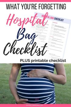 Don't forget to pack these items in your hospital bag checklist! This ultimate hospital bag checklist printable for baby and mom to be is exactly what you need to bring to the hospital--even for the minimalist! Discover this brilliant hack for packing your hospital bag for labor! #pregnancy #momtobe #baby #newborn #laboranddelivery #birth #checklist Labor Hospital Bag, Hospital Bag For Mom To Be, Hospital Bag Checklist, Parenting Plan, Parenting Books, Kids Sleep, Baby Sleep, Baby Kicking, Mom Advice