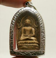 PHRA SOMDEJ LP RARE OLD THAI BUDDHA AMULET PENDANT MAGIC ANCIENT IDOL#317