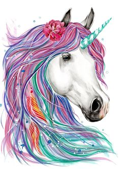 My First Unicorn Coloring Book. Perfect entertainment for your little ones,keep them coloring for hours with this Coloring Book with 31 Unicorn drawings! Unicorn Coloring Book for Kids Unicorn Painting, Unicorn Art, Magical Unicorn, Watercolor Paintings Of Animals, Colorful Paintings, Unicorn Poster, Unicorn Rooms, Unicorn Pictures, Super Cute Animals