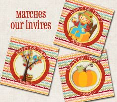 Fall Party Gift Tags / Cupcake Toppers by missbellaexpressions,