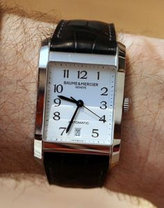 """Baume & Mercier Hampton Watch Hands-On - by Patrick Kansa - see & read more about it on aBlogtoWatch.com """"When it comes to dress watches, it seems that purists seem to favor a smaller (generally round) black dial with a simple two-hander movement. While I appreciate a good dress watch, I am more than willing to deviate from the 'black tie' standard, as it is handy to mix things up now and again. For instance, I actually prefer a white dial..."""""""