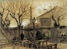 Guinguette, 1886, Vincent van Gogh