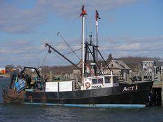 The trawler Act 1 at Town Dock, Montauk NY