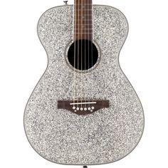 Buy Daisy Rock Pixie Sparkle Acoustic Guitar Silver Sparkle 14-6206 at ZoZoMusic.com