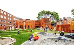 Danish architects COBE have recently completed a new daycare center in Copenhagen, Denmark.
