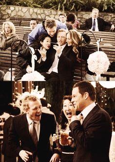 Grey's Anatomy! (in between filming scenes)