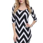 Chevron Black And White Dress