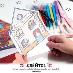 Une carte à offrir - Une jolie carte en forme de maison pour écrire des gentils mots à ta grand-mère. Grands Parents, Nice Map, Happy Name Day, Gifts