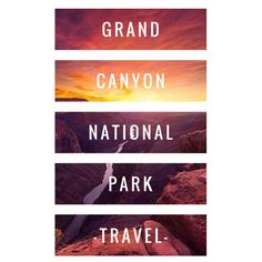 Grand Canyon National Park Travel - Board Cover - Word Swag