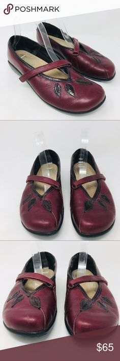 1a5b64f0523 Naot Burgundy Mary Janes Leaf Shoes Comfort Red 40 Naot Burgundy Red Mary  Janes Leaf Shoes